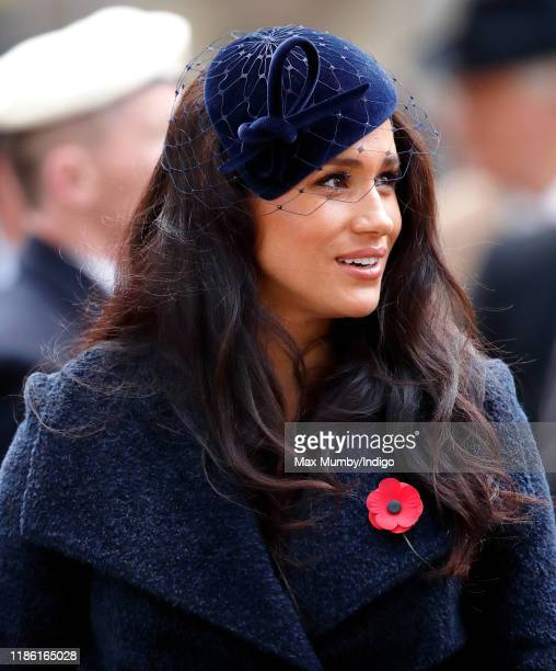 Meghan Duchess of Sussex attends the 91st Field of Remembrance at Westminster Abbey on November 7 2019 in London England
