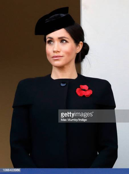 Meghan, Duchess of Sussex attends the annual Remembrance Sunday Service at The Cenotaph on November 11, 2018 in London, England. The armistice ending...