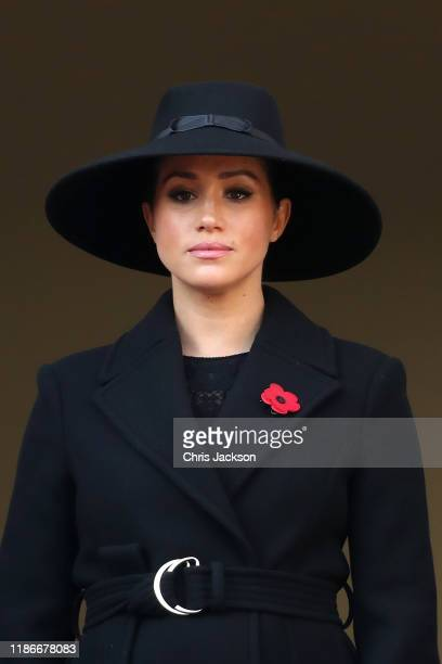 Meghan, Duchess of Sussex attends the annual Remembrance Sunday memorial at The Cenotaph on November 10, 2019 in London, England. The armistice...