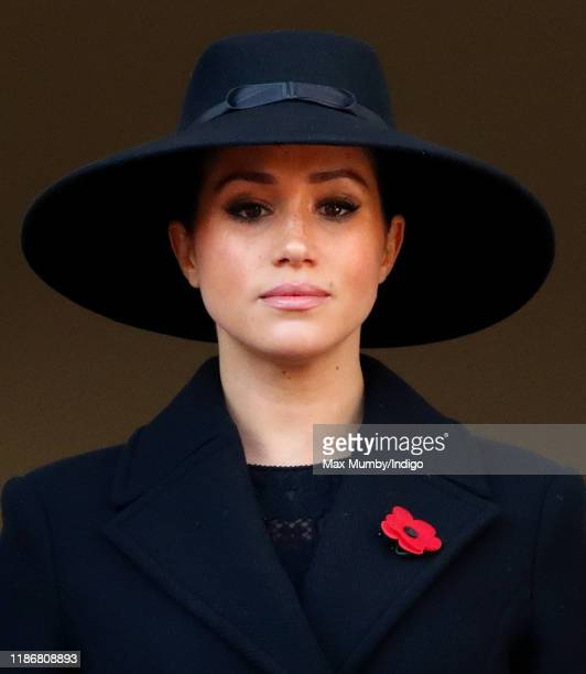 Meghan, Duchess of Sussex attends the annual Remembrance Sunday service at The Cenotaph on November 10, 2019 in London, England. The armistice ending...