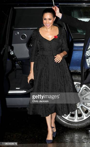 Meghan Duchess of Sussex attends the annual Royal British Legion Festival of Remembrance at the Royal Albert Hall on November 09 2019 in London...