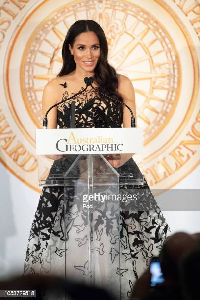 Meghan Duchess of Sussex attends the Australian Geographic Society Awards to present youth awards to honour the highest achievements in conservation...