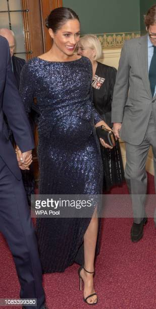 Meghan Duchess of Sussex attends the Cirque du Soleil Premiere Of 'TOTEM' at Royal Albert Hall on January 16 2019 in London England