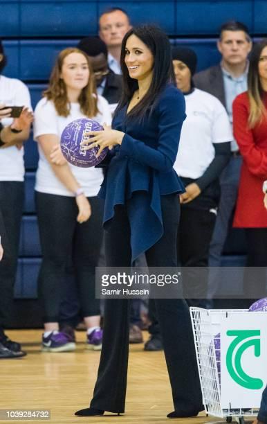 Meghan Duchess of Sussex attends the Coach Core Awards held at Loughborough University on September 24 2018 in Loughborough England
