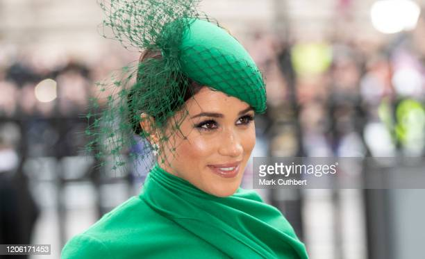 Meghan, Duchess of Sussex attends the Commonwealth Day Service 2020 at Westminster Abbey on March 9, 2020 in London, England.
