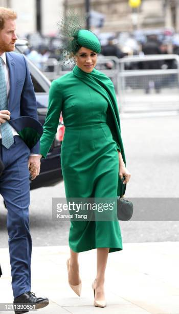 Meghan Duchess of Sussex attends the Commonwealth Day Service 2020 at Westminster Abbey on March 09 2020 in London England