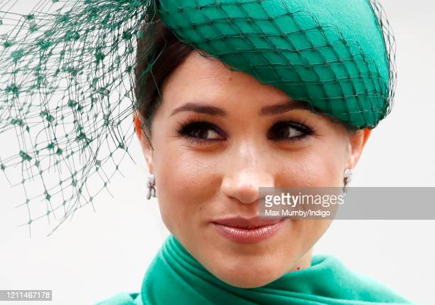Meghan Duchess of Sussex attends the Commonwealth Day Service 2020 at Westminster Abbey on March 9 2020 in London England The Commonwealth represents...