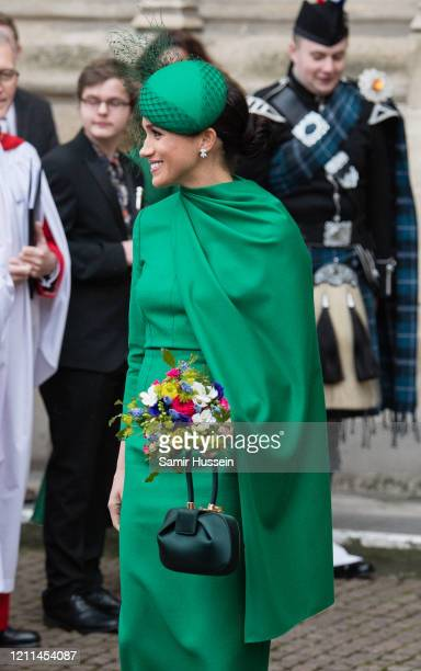 Meghan Duchess of Sussex attends the Commonwealth Day Service 2020 on March 09 2020 in London England