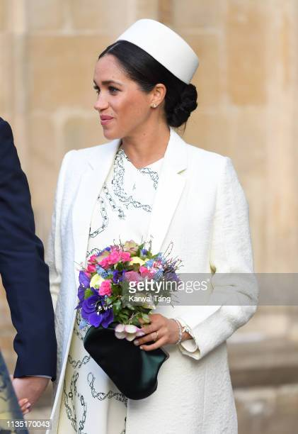 Meghan, Duchess of Sussex attends the Commonwealth Day service at Westminster Abbey on March 11, 2019 in London, England.