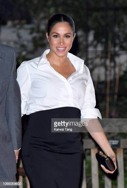 Meghan Duchess of Sussex attends the Endeavour Fund Awards at Drapers Hall on February 7 2019 in London England