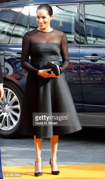 "Meghan Duchess of Sussex attends the European Premiere of ""The Lion King"" at Odeon Luxe Leicester Square on July 14, 2019 in London, England."