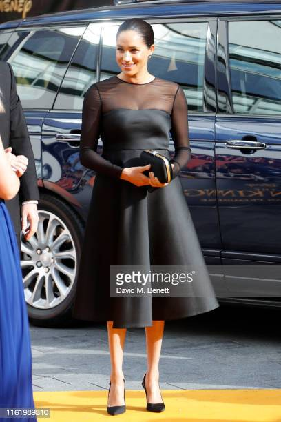 Meghan Duchess of Sussex attends the European Premiere of The Lion King at Odeon Luxe Leicester Square on July 14 2019 in London England