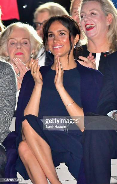 Meghan Duchess of Sussex attends the Invictus Games Opening Ceremony on October 20 2018 in Sydney Australia The Duke and Duchess of Sussex are on...