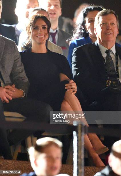Meghan Duchess of Sussex attends the Invictus Games Opening Ceremony at the Sydney Opera House on October 20 2018 in Sydney Australia The Duke and...