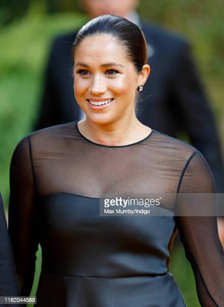 Meghan Duchess of Sussex attends The Lion King European Premiere at Leicester Square on July 14 2019 in London England