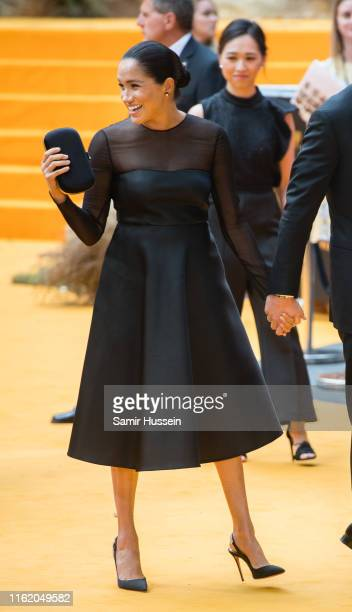 "Meghan, Duchess of Sussex attends ""The Lion King"" European Premiere at Leicester Square on July 14, 2019 in London, England."