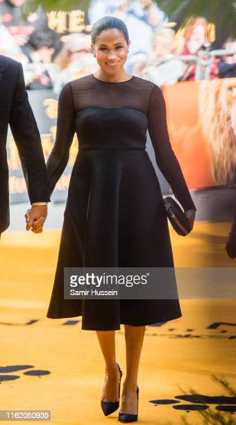 """Meghan, Duchess of Sussex attends """"The Lion King"""" European Premiere at Leicester Square on July 14, 2019 in London, England."""