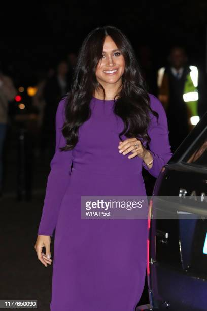 Meghan, Duchess of Sussex attends the One Young World Summit Opening Ceremony at Royal Albert Hall on October 22, 2019 in London, England. The...