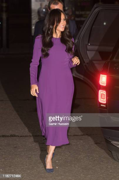 Meghan, Duchess of Sussex attends the One Young World Summit Opening Ceremony at Royal Albert Hall on October 22, 2019 in London, England. HRH is...