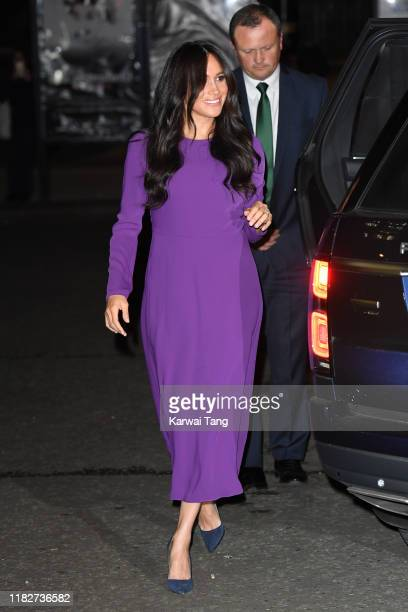 Meghan Duchess of Sussex attends the One Young World Summit Opening Ceremony at Royal Albert Hall on October 22 2019 in London England HRH is...