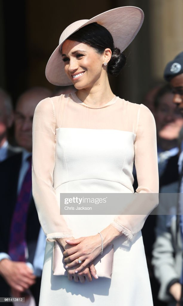 Meghan, Duchess of Sussex attends The Prince of Wales' 70th Birthday Patronage Celebration held at Buckingham Palace on May 22, 2018 in London, England.
