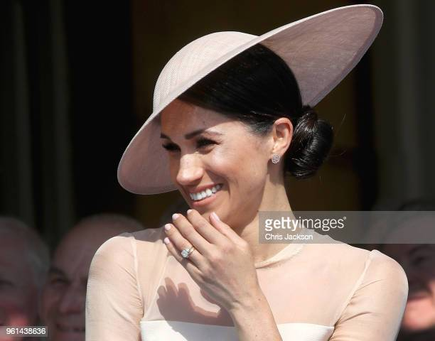 Meghan Duchess of Sussex attends The Prince of Wales' 70th Birthday Patronage Celebration held at Buckingham Palace on May 22 2018 in London England