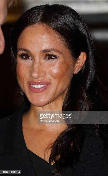 Meghan Duchess of Sussex attends the Royal British Legion Festival of Remembrance at the Royal Albert Hall on November 10 2018 in London England The...
