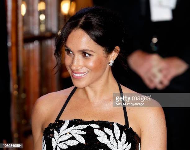 Meghan Duchess of Sussex attends The Royal Variety Performance 2018 at the London Palladium on November 19 2018 in London England