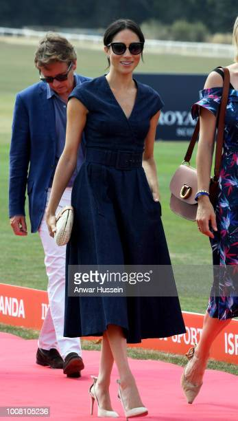 Meghan Duchess of Sussex attends the Sentebale ISPS Handa Polo Cup at the Royal County of Berkshire Polo Club on July 26 2018 in Windsor England