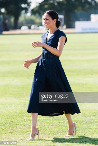 Meghan, Duchess of Sussex attends the Sentebale Polo 2018 held at the Royal County of Berkshire Polo Club on July 26, 2018 in Windsor, England.