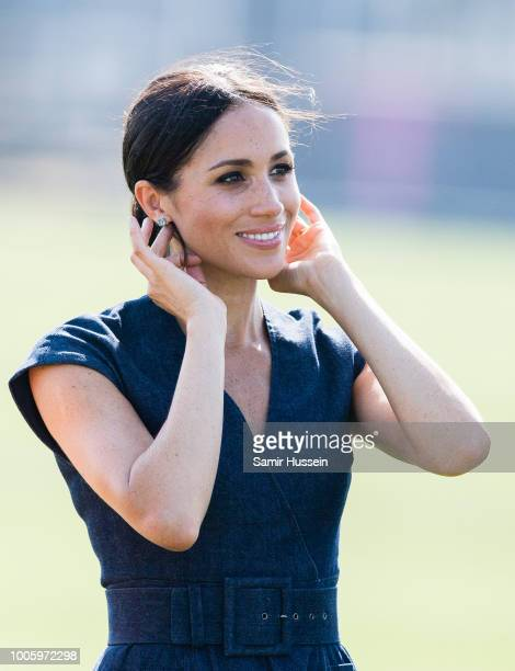 Meghan Duchess of Sussex attends the Sentebale Polo 2018 held at the Royal County of Berkshire Polo Club on July 26 2018 in Windsor England