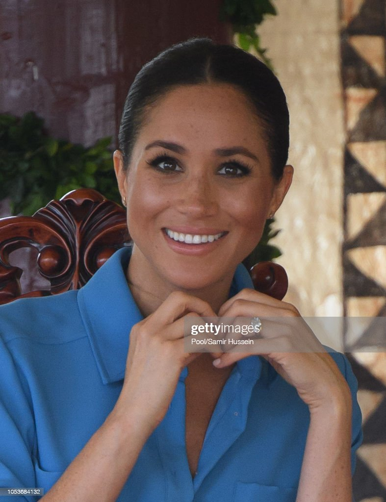 The Duke And Duchess Of Sussex Visit Tonga - Day 2 : News Photo