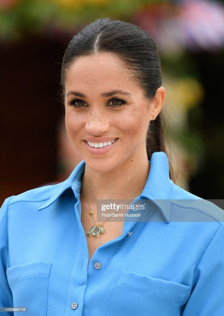 The Duke And Duchess Of Sussex Visit Tonga - Day 2 : Nachrichtenfoto