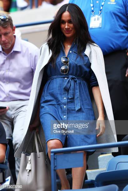 Meghan , Duchess of Sussex attends the Women's Singles final match between Serena Williams of the United States and Bianca Andreescu of Canada on day...