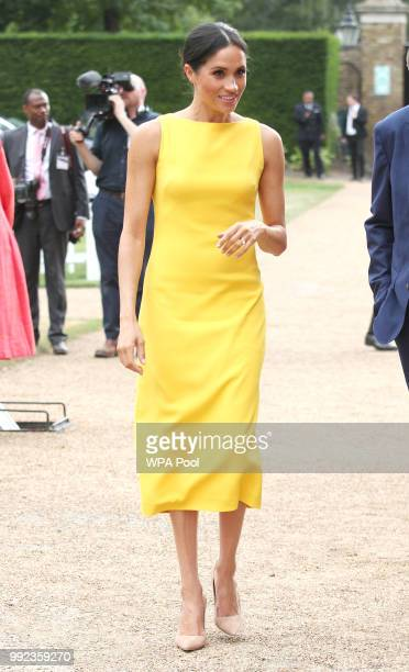Meghan Duchess of Sussex attends the Your Commonwealth Youth Challenge reception at Marlborough House on July 05 2018 in London England