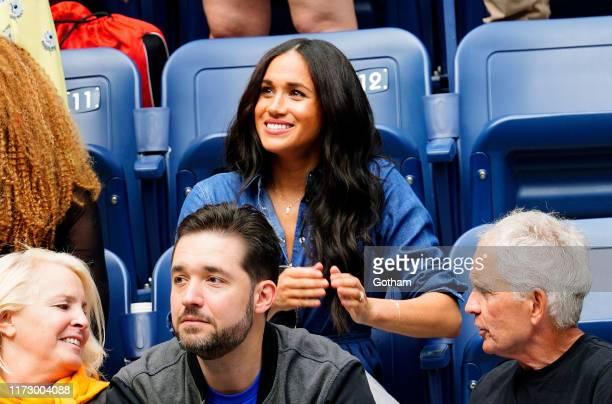 Meghan, Duchess of Sussex cheers on Serena Williams on September 07, 2019 in New York City.
