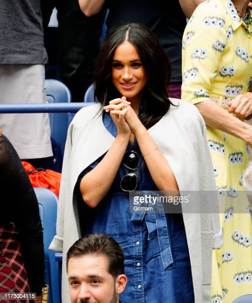 Meghan Duchess of Sussex cheers on Serena Williams on September 07 2019 in New York City
