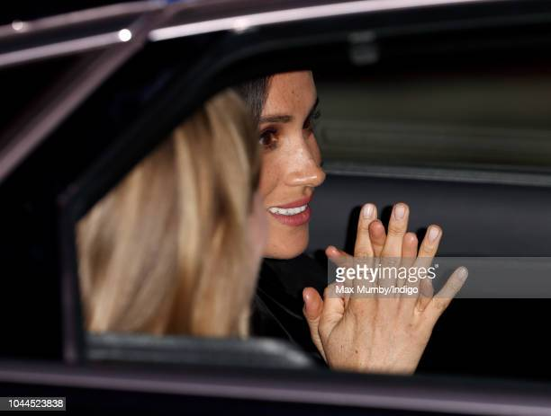 Meghan Duchess of Sussex departs after opening 'Oceania' at the Royal Academy of Arts on September 25 2018 in London England 'Oceania' is the...