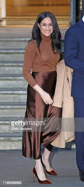 Meghan Duchess of Sussex departs Canada House on January 07 2020 in London England