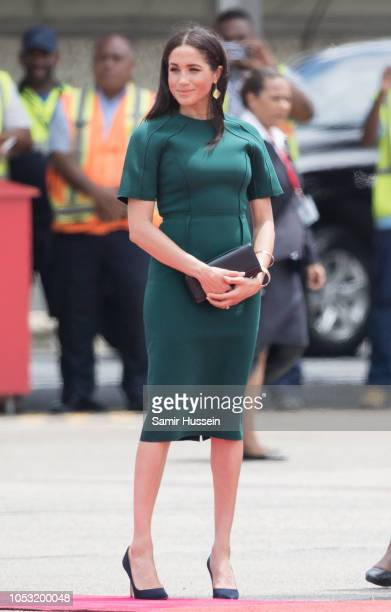 Meghan Duchess of Sussex departs from Nadi airport on October 25 2018 in Nadi Fiji The Duke and Duchess of Sussex are on their official 16day Autumn...