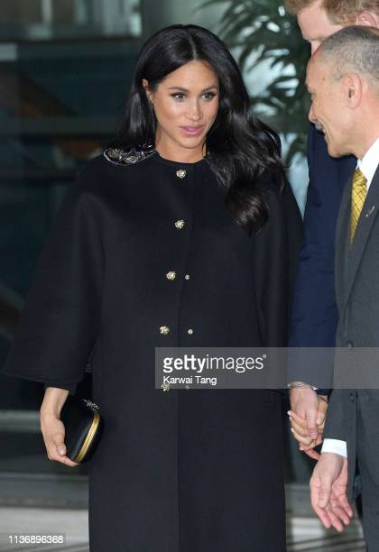 Meghan Duchess of Sussex departs New Zealand House after signing the book of condolence following the recent terror attack which saw at least 50...