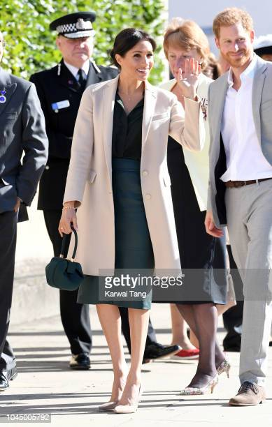 Meghan Duchess of Sussex during an official visit to Sussex on October 3 2018 in Chichester United Kingdom The Duke and Duchess married on May 19th...