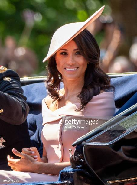 Meghan Duchess of Sussex during Trooping The Colour 2018 on June 9 2018 in London England