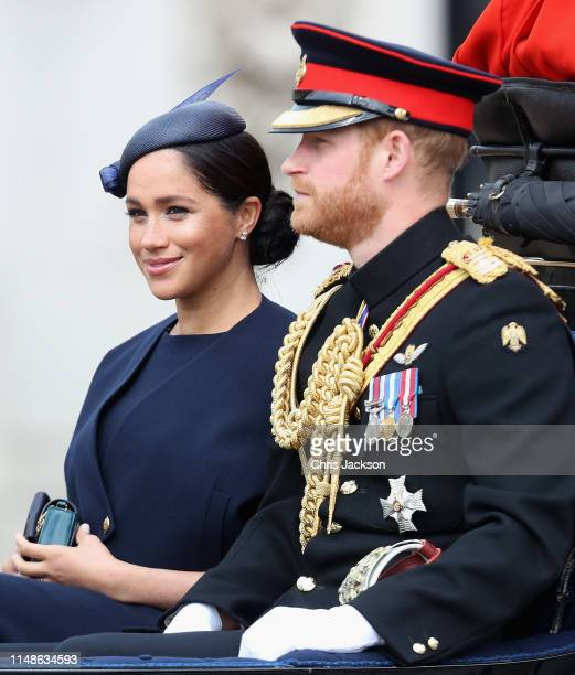 Meghan, Duchess of Sussex during Trooping The Colour, the Queen's annual birthday parade, on June 8, 2019 in London, England.