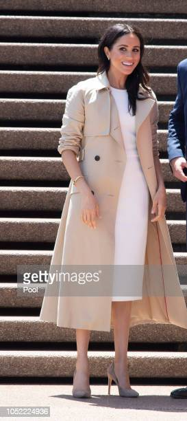 Meghan Duchess of Sussex greet the public at the Sydney Opera House on October 16 2018 in Sydney Australia The Duke and Duchess of Sussex are on...