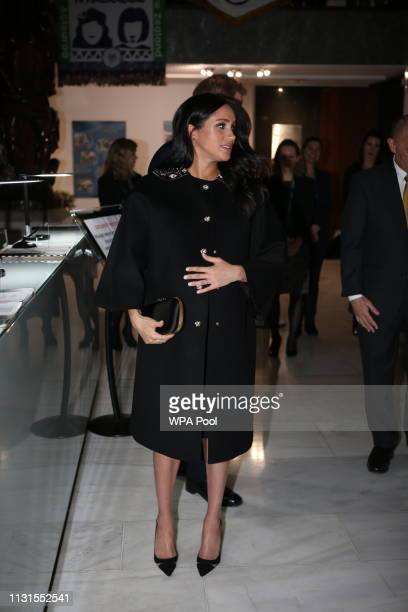 Meghan Duchess of Sussex is seen at New Zealand House on March 19 2019 in London England The visit was following the recent terror attack which saw...