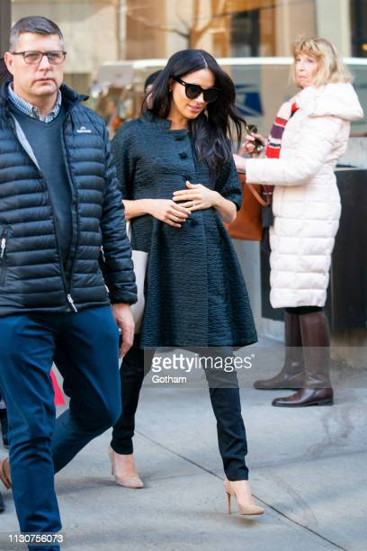 Meghan Duchess of Sussex is seen in the Upper East Side on February 19 2019 in New York City