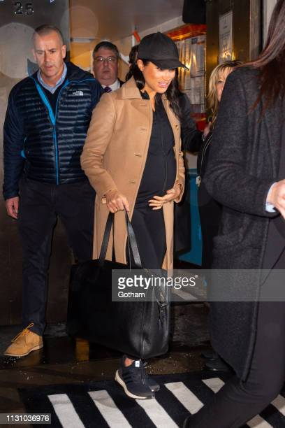 Meghan Duchess of Sussex is seen in the Upper East Side on February 20 2019 in New York City