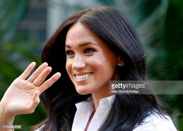 Meghan Duchess of Sussex launches the Smart Works capsule collection on September 12 2019 in London England Created in September 2013 Smart Works...