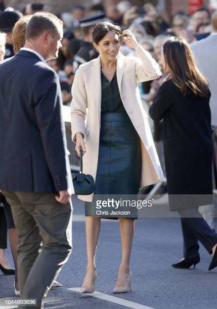 Meghan Duchess of Sussex makes an official visit to Sussex on October 3 2018 in Chichester United Kingdom The Duke and Duchess married on May 19th...